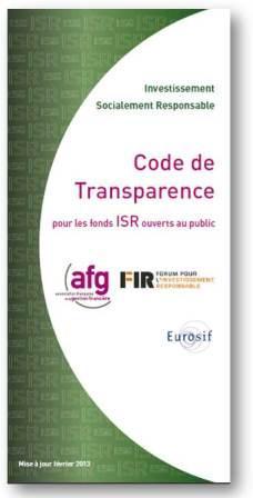 code de transparence ISR 2013