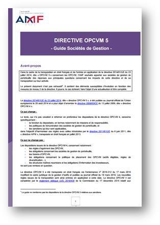 guide AMF OPCVM 5