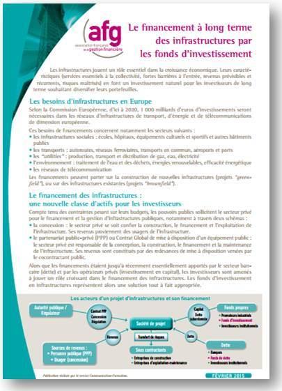 Financement fonds infrastructure 2015 02 couv