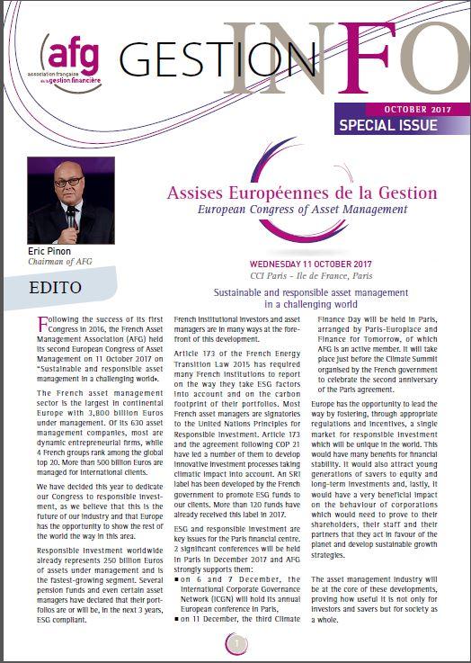 Gestion Info Numéro Spécial Assises Européennes de la Gestion – Octobre 2017