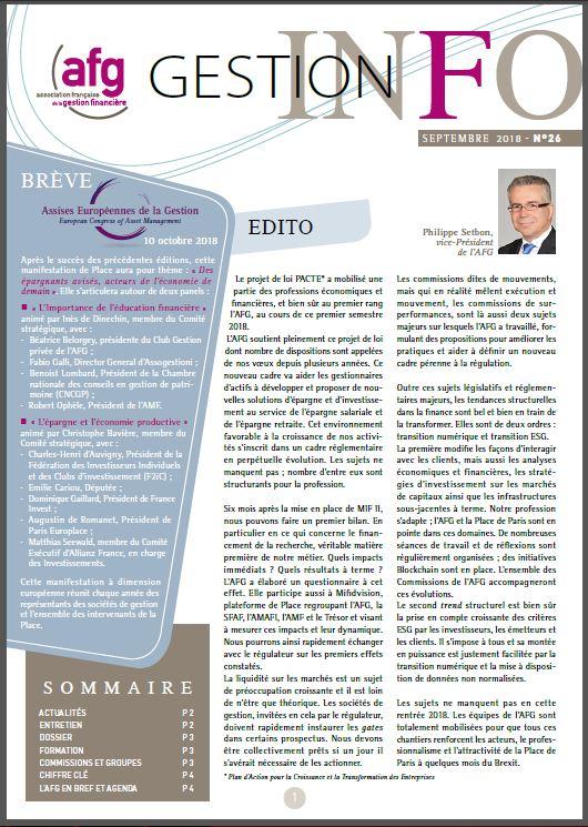 Gestion Info n°26 - September 2018