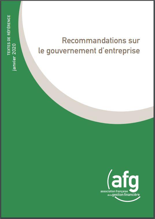 Gouvernement d'entreprise : l'AFG renforce ses recommandations pour 2020