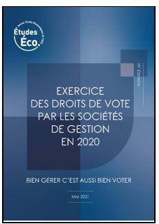 Exercice des droits de vote par les sociétés de gestion – Données 2020